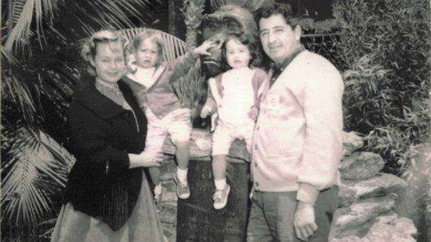 Ruben Salazar and his family.