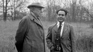 Architect Frank Lloyd Wright and photographer Pedro E. Guerrero.