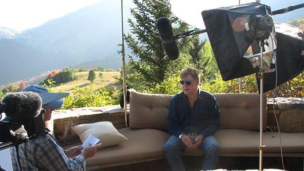 Producer John Howe interviews Robert Redford.