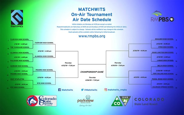 Matchwits Air Date Grid 2018 02/06/18
