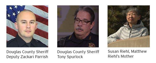 Deputy Parrish, Sheriff Spurlock, and Susan Riehl