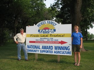 Heikes Family Farm is located in Vermillion, SD along the highway 50 bypass.