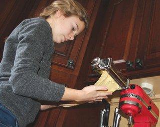 Sabrina Swee enjoys making pasta.