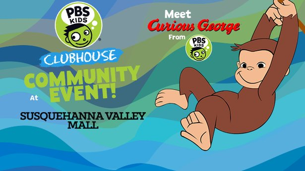 Curious George at the Susquehanna Valley Mall