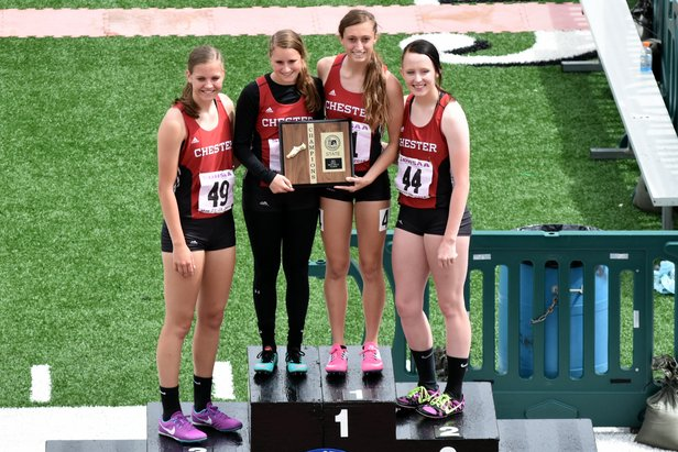 2016 Class B Girls 800m Relay - Chester Area