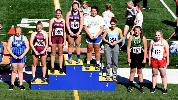 2017 Class A State Track Girls Shot Put