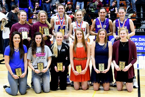 2017 State Class B Girls Basketball All Tourn Team