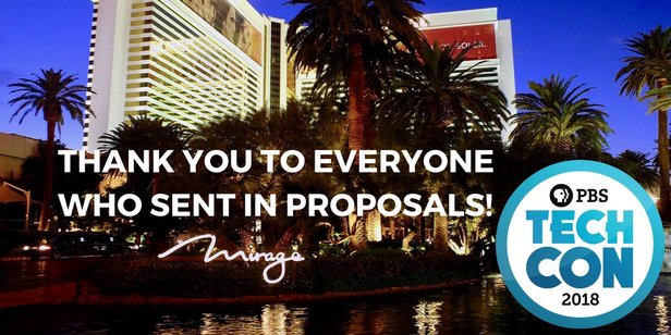 Thanks for participating in our Call For Proposals!