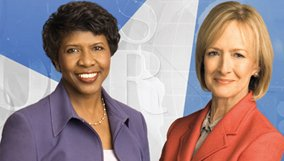 Gwen Ifill and Judy Woodruff as Co-Anchors