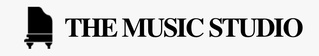 The Music Studio Logo - Black and White with Piano