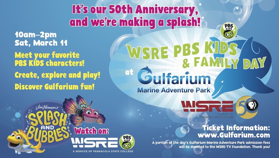 WSRE PBS KIDS and Family Day at Gulfarium Marine Adventure