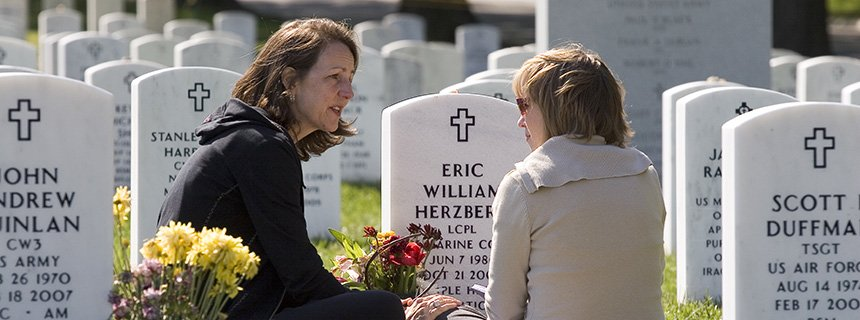 Mothers of fallen soldiers in Arlington national cemetary