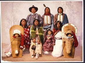 Utes--Chief Sevara [i.e., Severo] and family 290.jpg