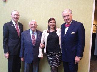Pictured at the Governor's Awards ceremony:  Dan Alpert, Bill Smith, Jenna Moritz (DPTV major giving officer), and Dana Locniskar (Board Emeritus for DPTV and Board Member of CFSEM).