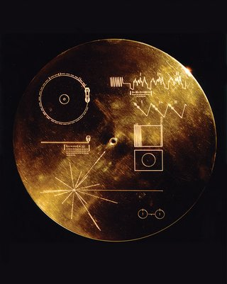 gold-plated aluminum cover for golden record