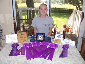 Katie McCleary and her year of 4-H and School Awards