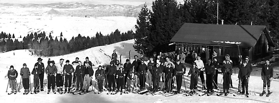 Butte Ski Club Members at the Beef Trail, circa 1955