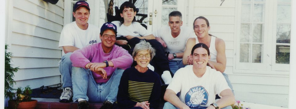Nancy Whitmer and her six sons.
