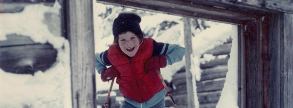 Nikki, pictured here at 8 years old, grew up skiing and running in Vermont's Green Mountains
