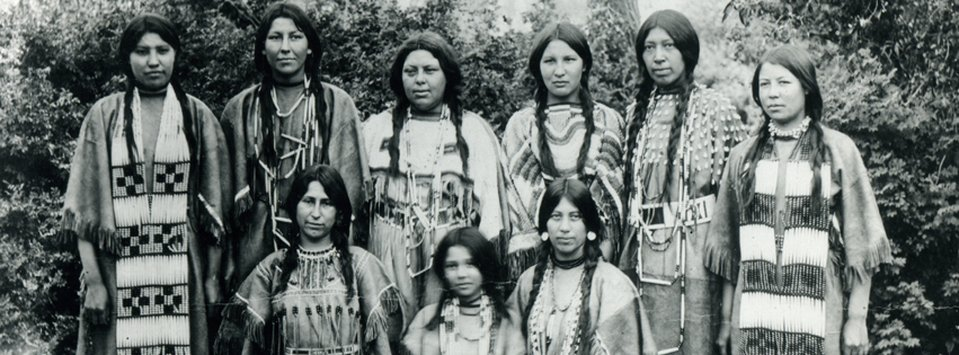 In addition to basketball, the Fort Shaw Indian Boarding School girls also gave artistic and literary perfomances.  They wore these buckskin dresses while reciting classic literature such as Henry Wadsworth Longfellow's 'Hiawatha'.