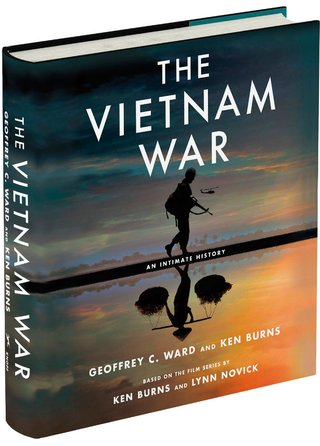 "An image of the hardcover book accompanying the film, titled ""The Vietnam War - An Intimate History"" by Geoffrey C. Ward and Ken Burns"
