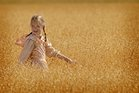 girl in a wheat field image