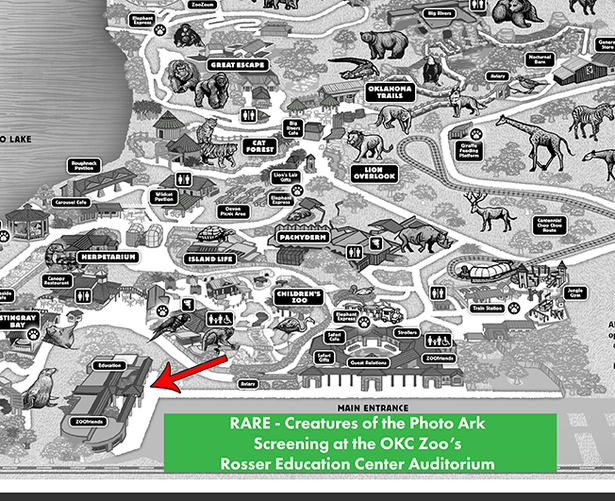 OKC ZOO Rosser Education Center Map