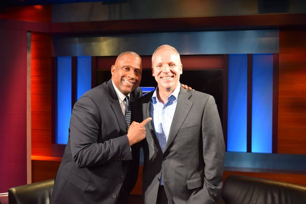 Tavis Smiley and PBS SoCal CEO Andy Russell