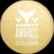 Shorty Awards badge