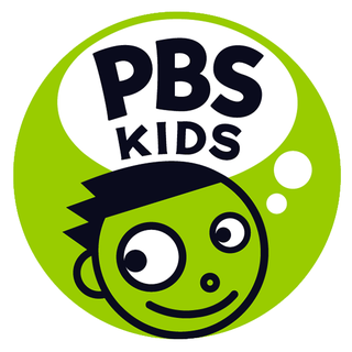 A circular image displaying the green PBS KIDS logo, which shows a cartoon of a smiling boy