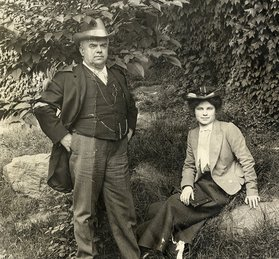 Dorothy Canfield with her father James Canfield