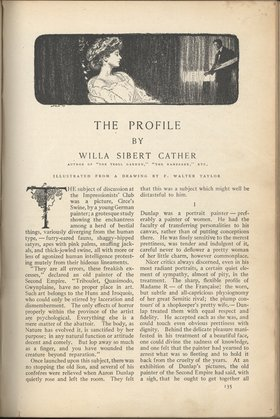 """The Profile"" by Willa Cather"