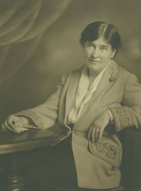 Willa Cather posing for a studio portrait