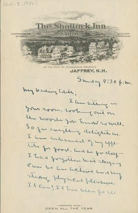 Letter from Willa Cather to Edith Lewis