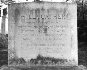 Willa Cather's grave at Jaffrey, NH