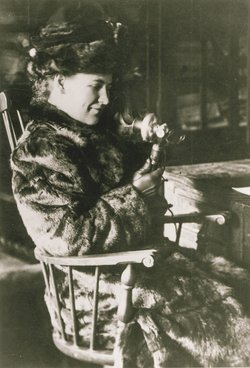 Willa Cather working at McClure's Magazine