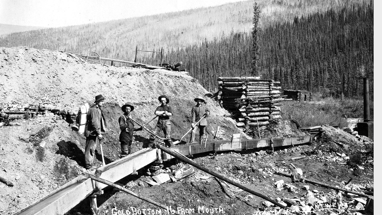 "the klondike Still renowned as the richest gold strike in north american mining history, the klondike gold rush set off a ""stampede"" of over 100,000 people on a colossal journey from alaska to the gold fields of canada's yukon territory between 1896 and 1899 front street, dawson city."