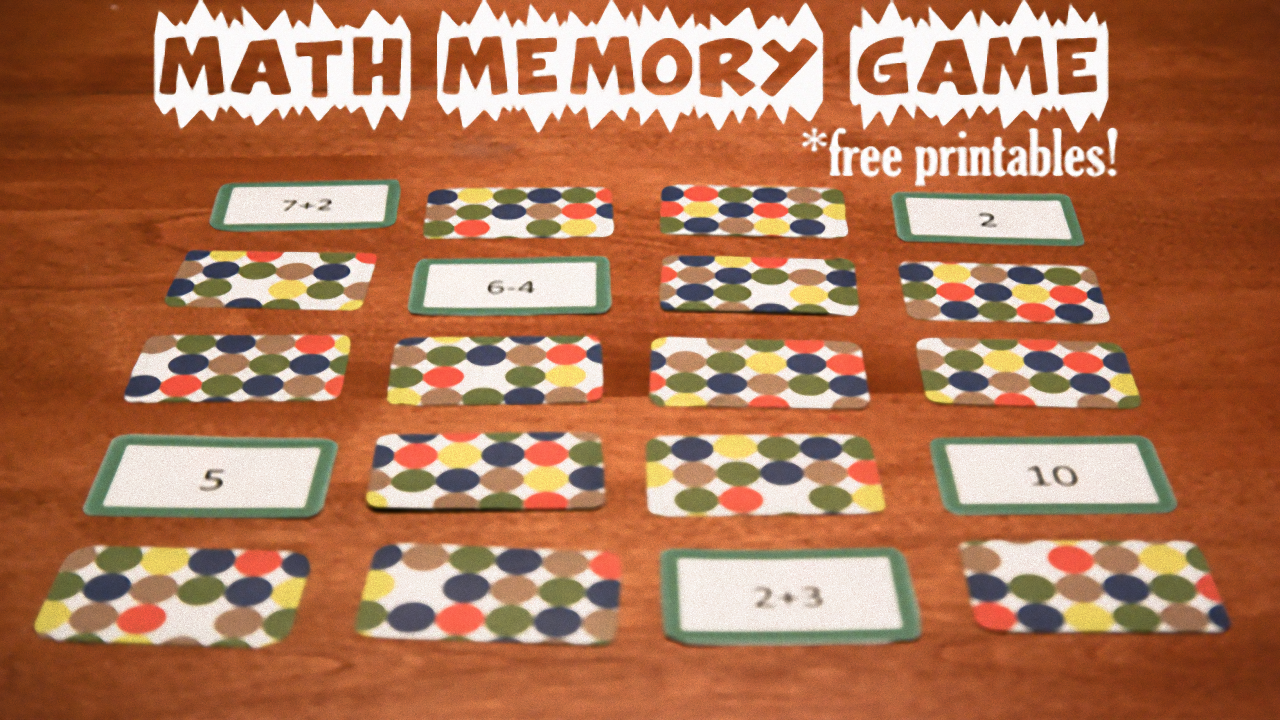 photo relating to Making 10 Games Printable known as Math Memory Online games, Cost-free Printables SDPB