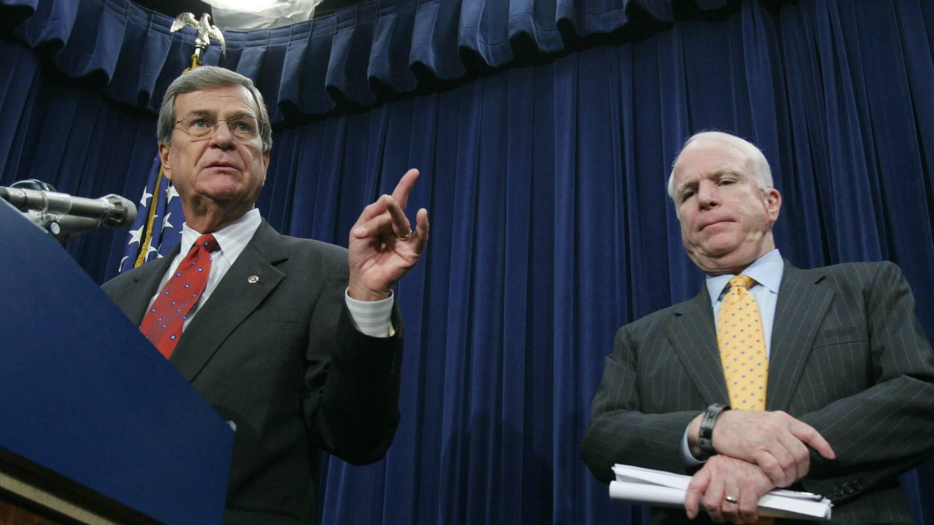 Lott remembers Senate colleague, McCain