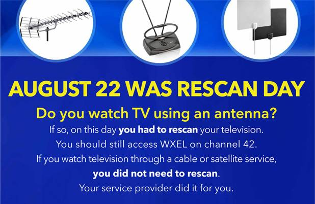 South florida pbs blog as directed by the federal communications commission august 22nd was designated rescan day for wxel as a result wxels signal and transmission facility publicscrutiny Gallery