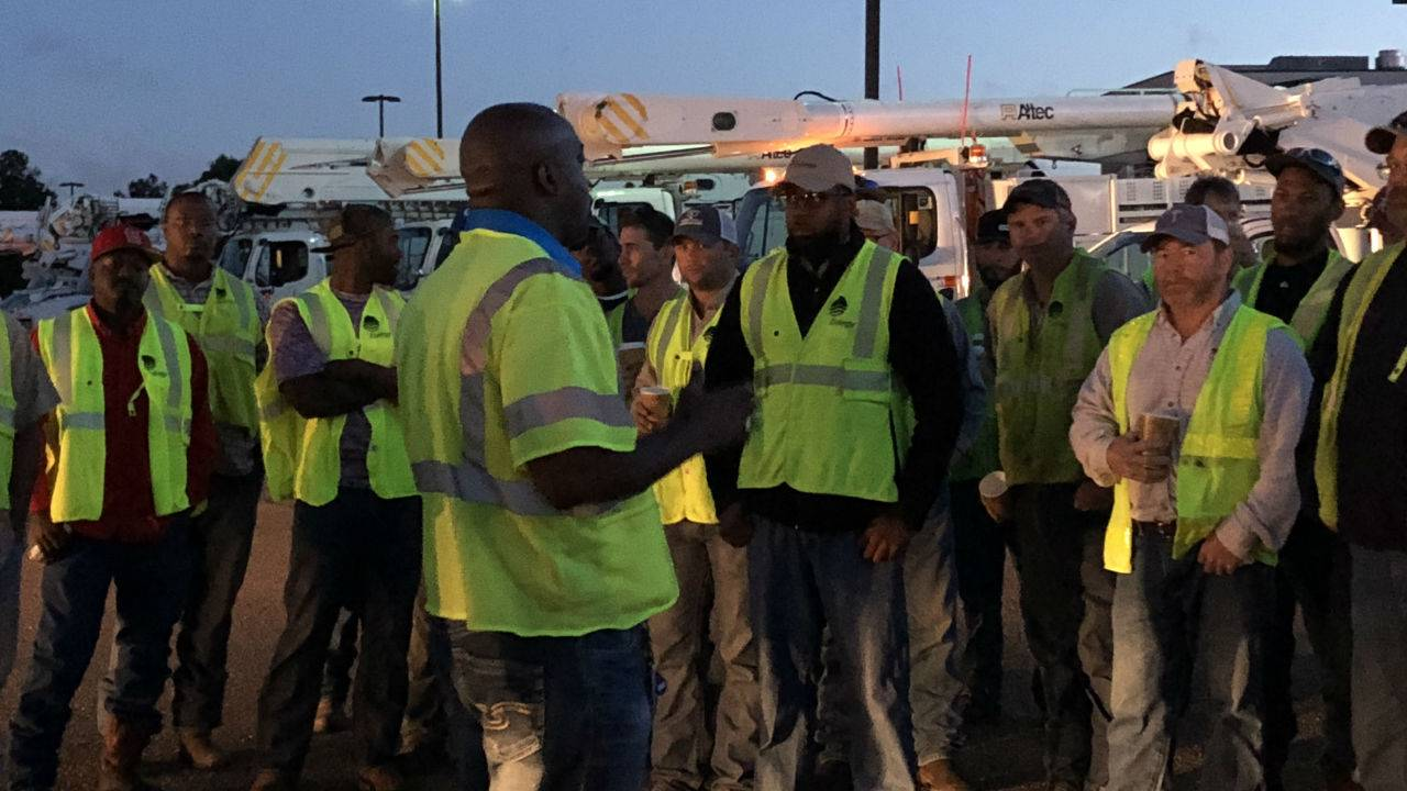 State Workers, Utility Crews, help Florida with Hurricane Recovery