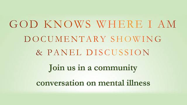 God Knows Where I Am - Documentary & Panel Discussion