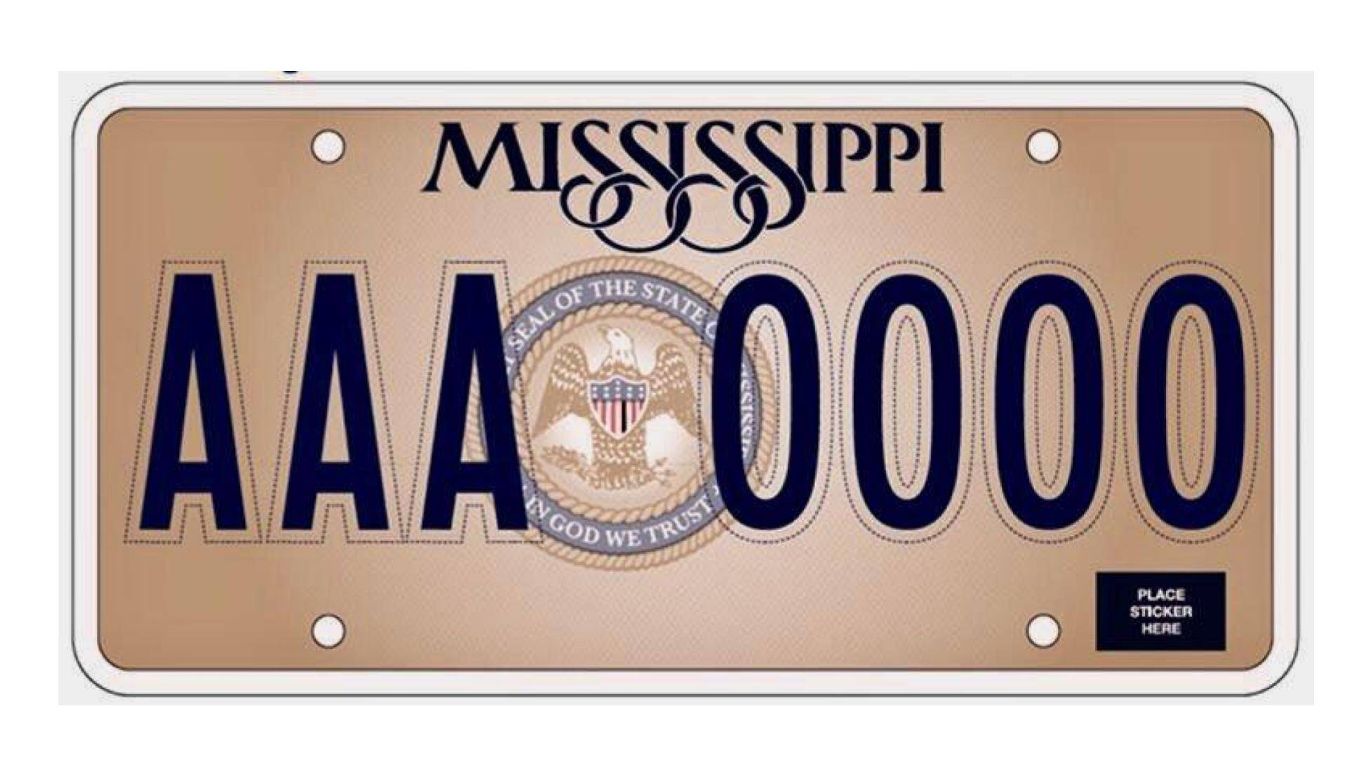 "Mississippi's New License Plate Under Fire for ""In God We Trust"" Phrase"