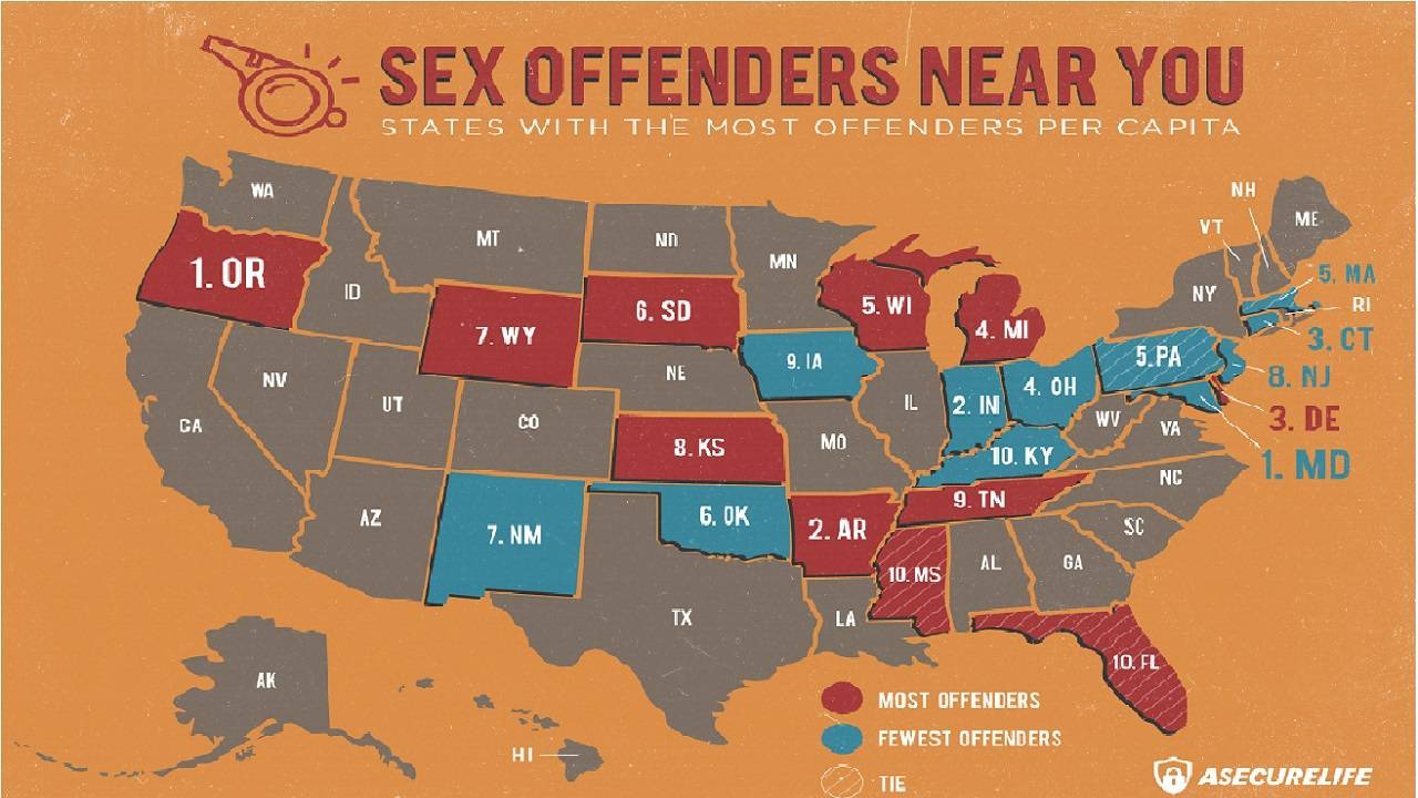 Mississippi Ranks Tenth in Number of Sex Offenders Per Capita