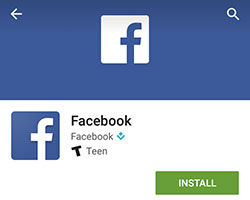 How to download and install facebook app for android mobile.