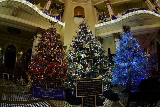 Chistmas trees in the South Dakota Capitol building