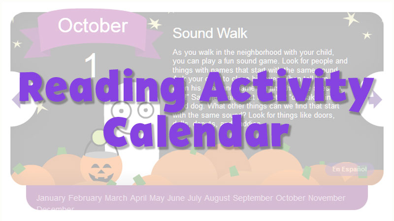 Reading Activity Calendar