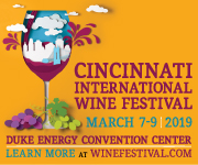 Cincinnati International Wine Festival: Mar. 7 - 9, 2019 @ Duke Energy Convention Center. Learn more at winefestival.com