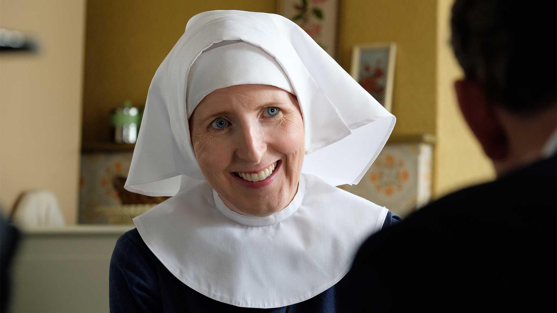 Fenella Woolgar plays Sister Hilda