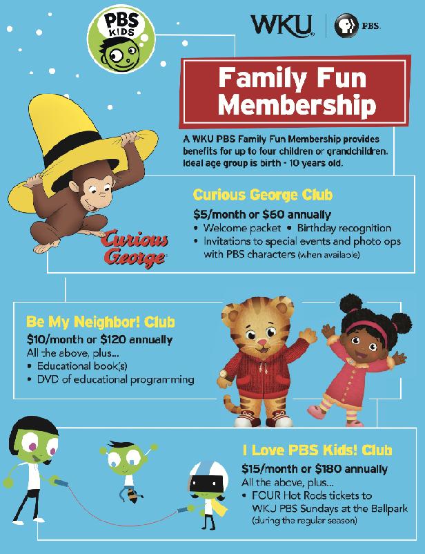 WKU PBS Family Fun Membership Flyer